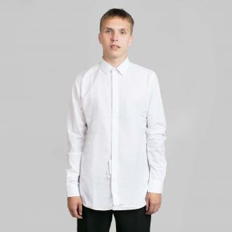 Saint Laurent white shirt Pointed collar Concealed front button fastening Long sleeves with single button cuffs Curved hem Sample size: 40 Composition: 100% cotton