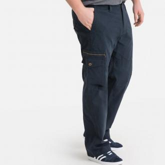Combat-style trousers. A summer essential! Straight cut. Multiple pockets. Elasticated waistband at sides and back. Zip fly. 100% cotton canvas.- Inside leg: from 29.6 to 31.1, depending on the size.- Hem width: from 48.6 to 56.4cm, depending on the size.
