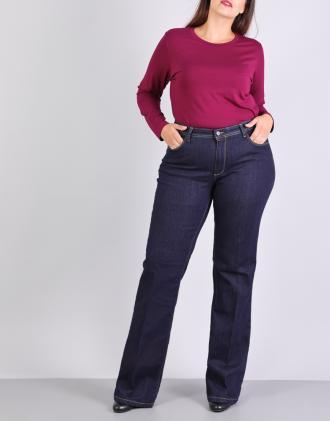 041d4125ecca Τζιν παντελόνι καμπάνα για μεγάλα μεγέθη με εξώραφα.Το παντελόνι έχει στενή  γραμμή. Σας