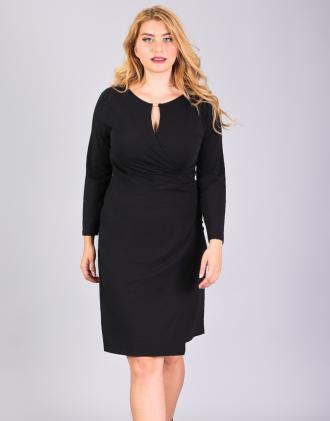 f03367c3505a Κρουαζέ φόρεμα για μεγάλα μεγέθη με κλειδαρότρυπα εμπρός