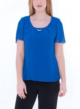 2272f54d4c2b Σύνθεση 100% Polyester Χρώμα Μπλε Ρουά Μανίκια Κοντά Ελληνικής Κατασκευής