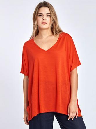 9796fb054e1c Plus size μπλούζα σε τετράγωνη γραμμή