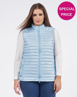 Quilted γιλέκο σε σιέλ (Light blue, S/M)