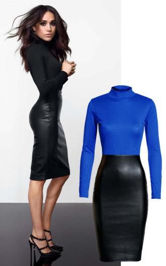 160a79cf0d64 edgy φόρεμα Meghan σε royal blue