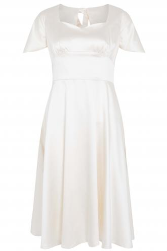 3535ea45bc59 bridal satin vintage φόρεμα cape Bonny