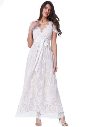 17b23489ad4e bridal romantic fine lace φόρεμα Isadora white