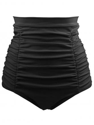 High Waist Plus Size Ruched Swim Briefs