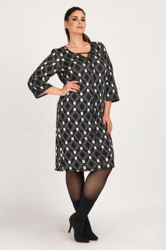 385b7612e169 Midi κρεπ ελαστικό φόρεμα που αγκαλιάζει άψογα τη σιλουέτα. 3 4 μανίκια