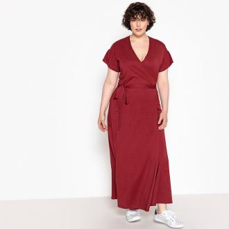 71aad26404e0 Κρουαζέ μακρύ φόρεμα - CASTALUNAΕβαζέ γραμμήΜήκος: μάξιΚοντά  μανίκιαΛαιμόκοψη VΖώνη που δένει στη μέσηΣύνθεση:Από